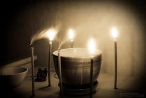 Обряд со свечками