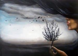Дуть на дерево
