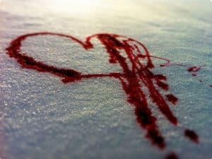 Красным на снегу